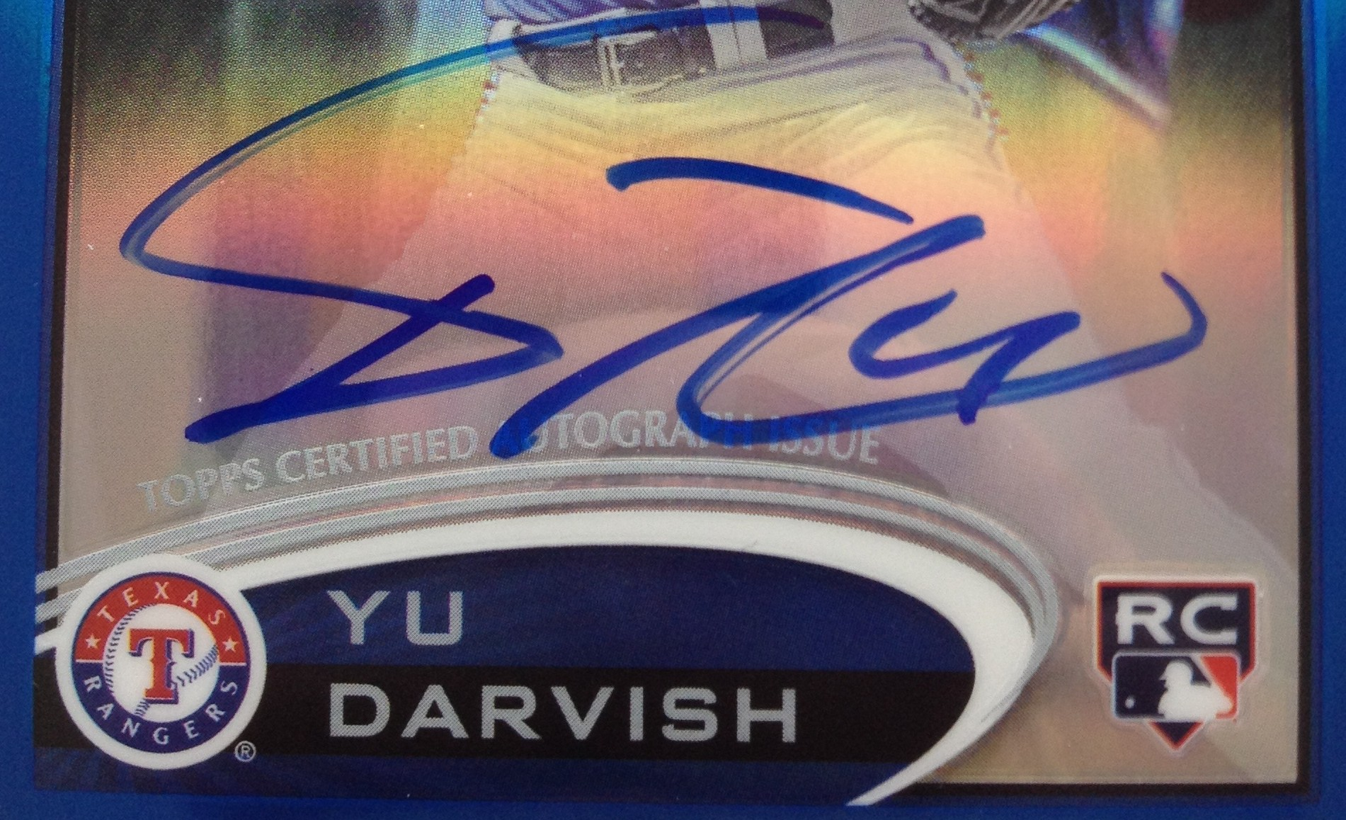 2012 Topps Chrome Yu Darvish Blue Refractor